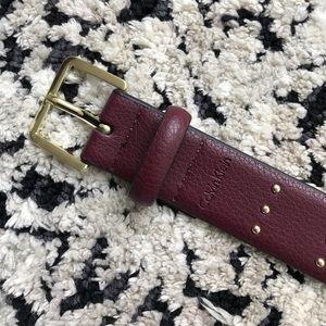Calvin Klein burgundy belt